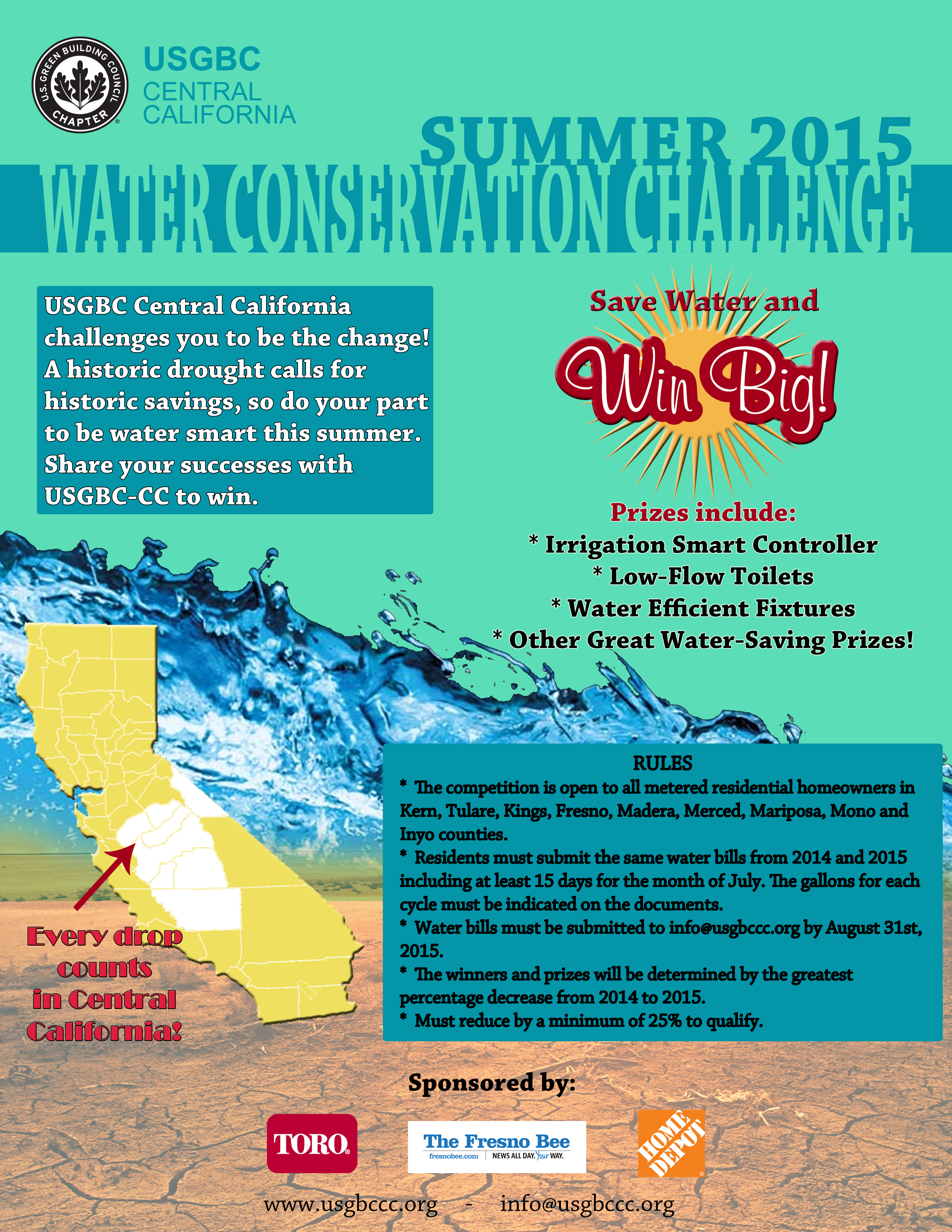 Summer Water Conservation Challenge! @ Your Home!
