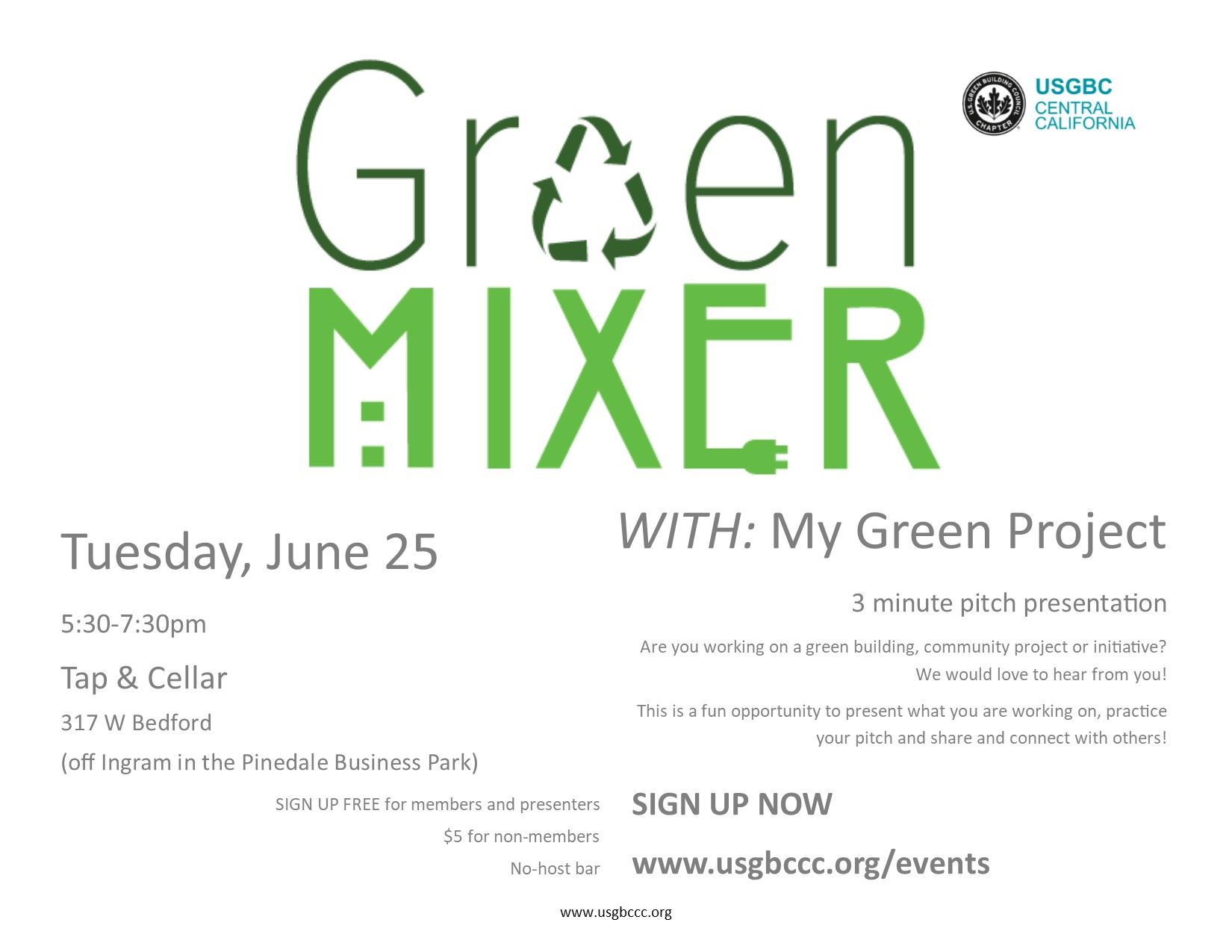 US Green Building Council Central California - Green Mixer
